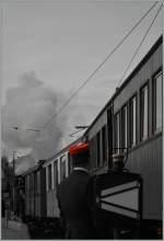 Die Bahn und ihre Mitarbeiter/177931/der-stationvorstandblonay-chamby-30-okt-2011 Der Stationvorstand. Blonay-Chamby, 30. Okt. 2011