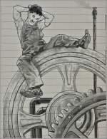 Sonstiges/183945/etwas-ratlos-sitzt-charlie-chaplin-vor Etwas ratlos sitzt Charlie Chaplin vor der Technik...Eine Filmszene aus Moderns Times 1936. Anstelle neuer Farbe wurde bei zwei renovierungsbedürftigen Hochhäusern diese Szene und noch einige andere nach Entwürfen des Künstler Franck Bouroullec an die Wände gezaubert. Die Häusern kann man in Gilamont-Vevey von einem Aussichtspunkt aus gut bestaunen.   (04.03.2012)